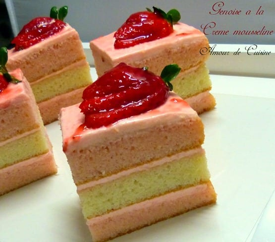 Genoise cr me mousseline amour de cuisine for Mousseline en cuisine