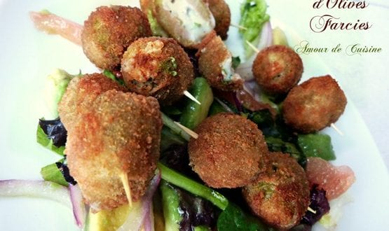 tapas / amuse bouche / olives farcies