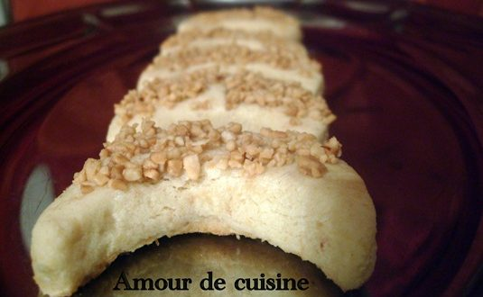 Qmirates, petites lunes aux cacahuetes » قميرات» gateau algerien