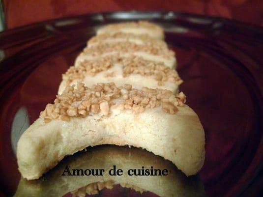 """Qmirates, petites lunes aux cacahuetes """" قميرات"""" gateau algerien"""