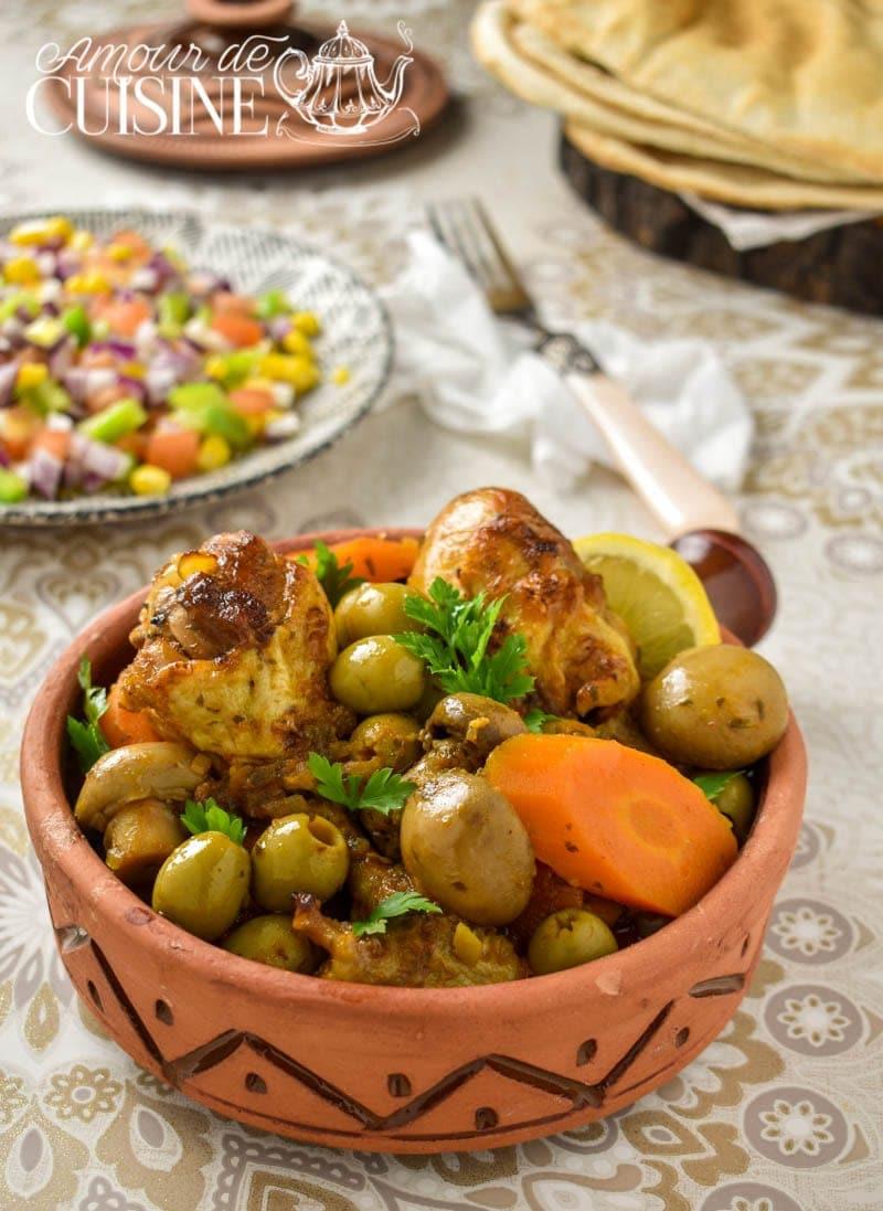 tajine de poulet aux Olives et champignons 2