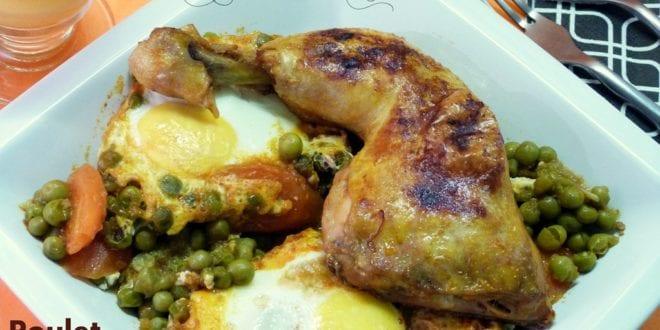 poulet aux petits pois et aux oeufs