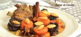 Tajine d'agneau aux pruneaux et abricots secs