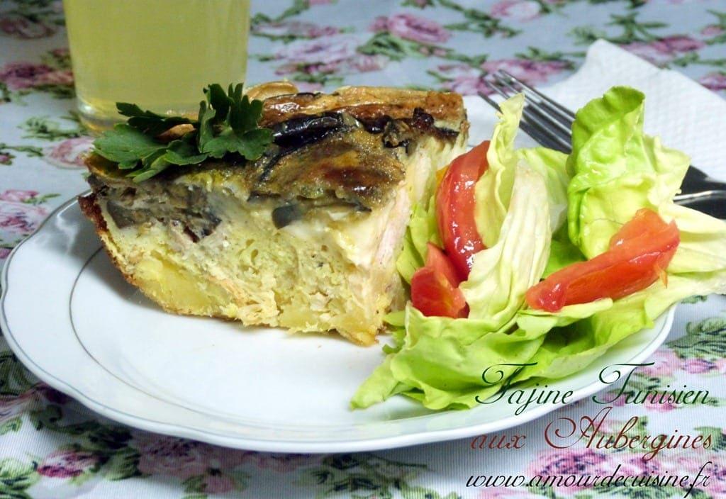 Tajine tunisien aux aubergines amour de cuisine - Cuisine tunisienne tajine ...