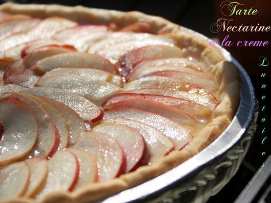 tarte nectarine a la creme-1