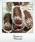gateau sans cuisson, doigts au chocolat