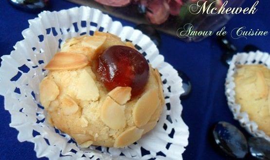 mchawek aux amandes, gateau algerien sans gluten