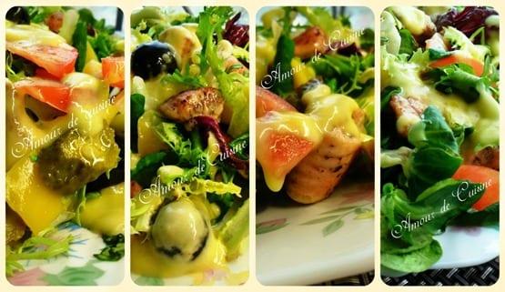 salade au saumon et mangue
