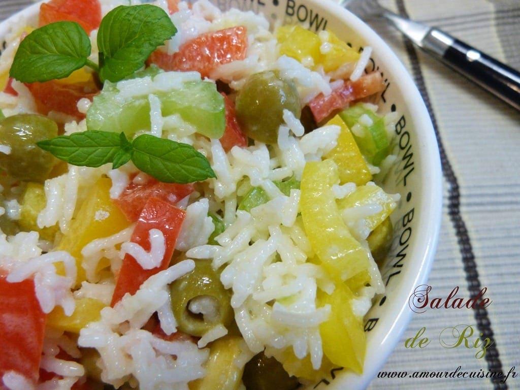 Salade de riz salade composee amour de cuisine for Amour de cuisine