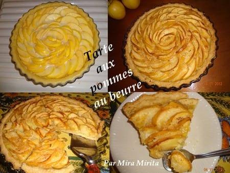 Tarte aux pommes au beurre de mira m