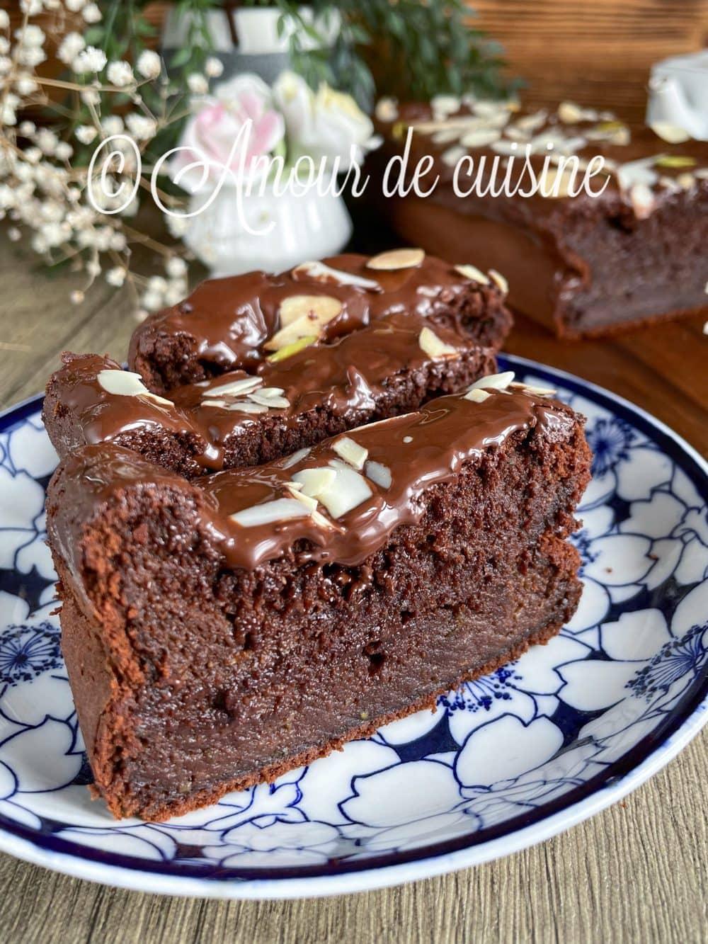 gateau moelleux au chocolat et courgette