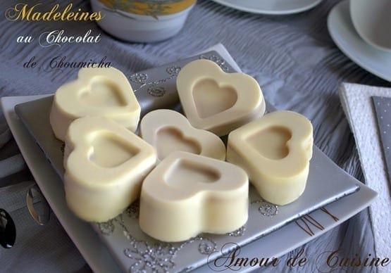 madeleine au chocolat blanc