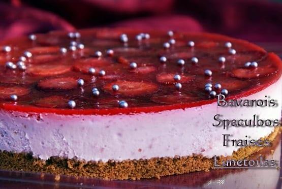 bavarois fraises speculoos