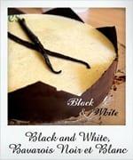 bavarois noir et blanc