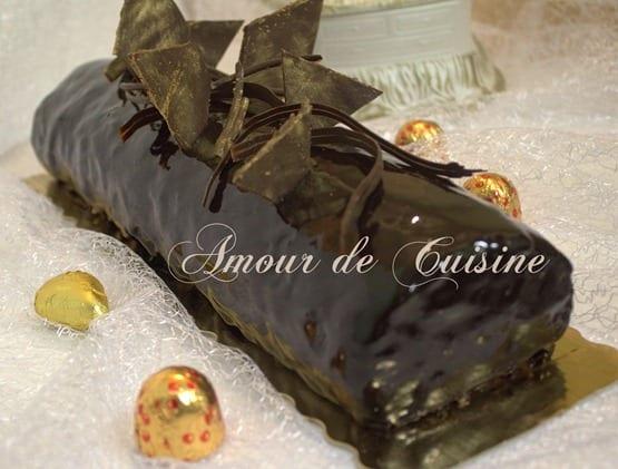 buche au chocolat du nouvel an