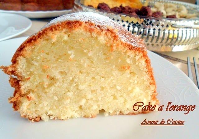 Cake a l 39 orange et noix de coco amour de cuisine - Gateau a l orange ...