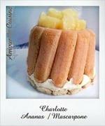 charlotte ananas mascarpone