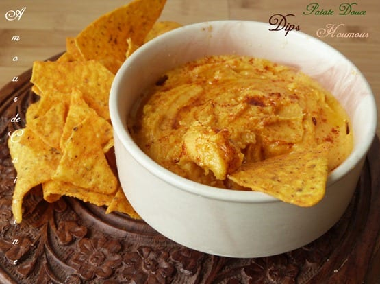 dips patate douce houmous