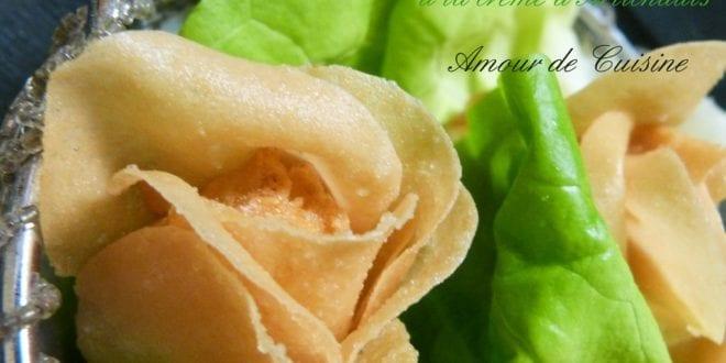 fleurs a la creme d'artichauts / tapas et amuse bouche