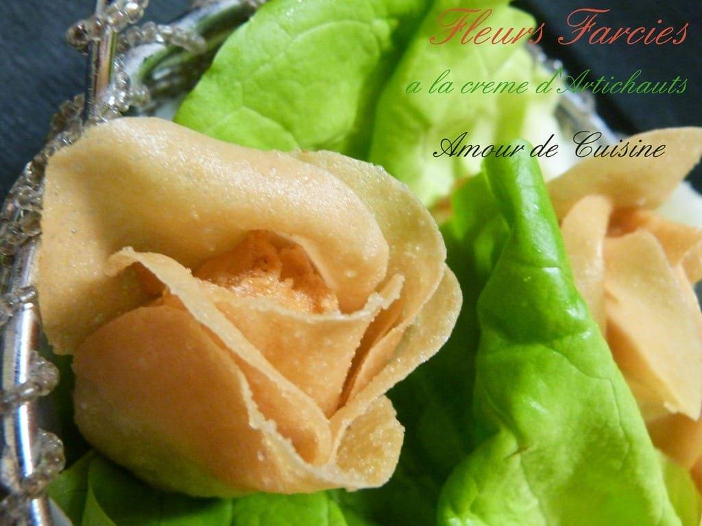 Fleurs a la creme d 39 artichauts tapas et amuse bouche for Amuse bouche cuisine