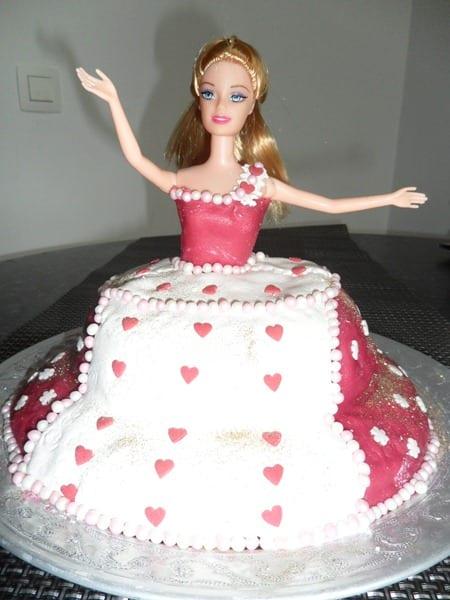 gateau d'anniversaire barbie chez Lina
