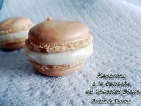 macarons a la ganache au chocolat nlanc