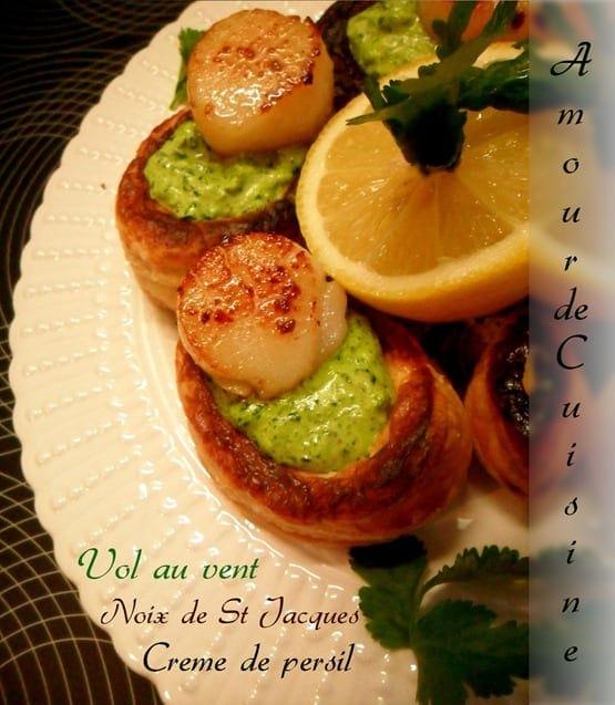 Noix de Saint Jacques au beurre au persil et ail
