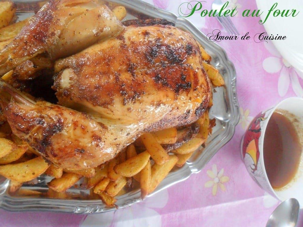 Poulet au four amour de cuisine - Cuisine poulet au four ...