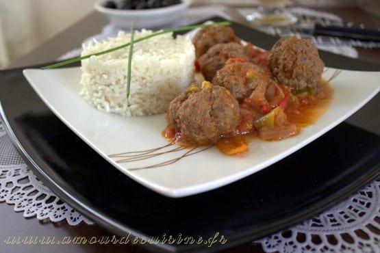 riz aux boulettes de viande hachee 018