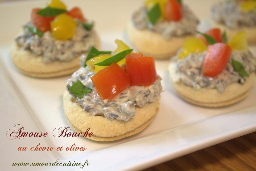 Amuse bouche olive et chevre amour de cuisine - Amuse bouche sans cuisson ...