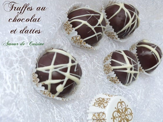 truffes au chocolat et dattes