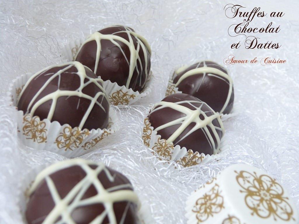 truffes chocolat dattes amour de cuisine. Black Bedroom Furniture Sets. Home Design Ideas