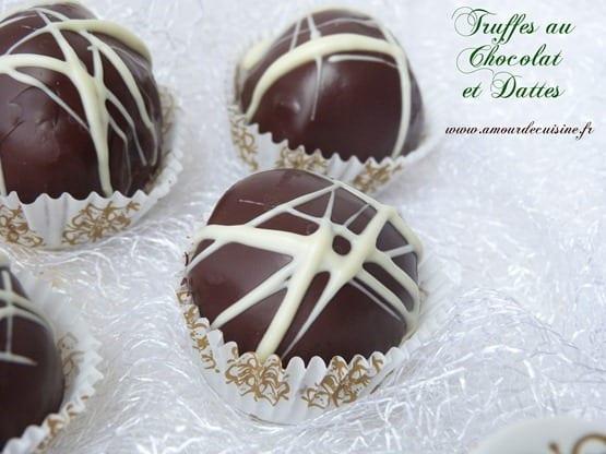 truffes dattes et chocolat