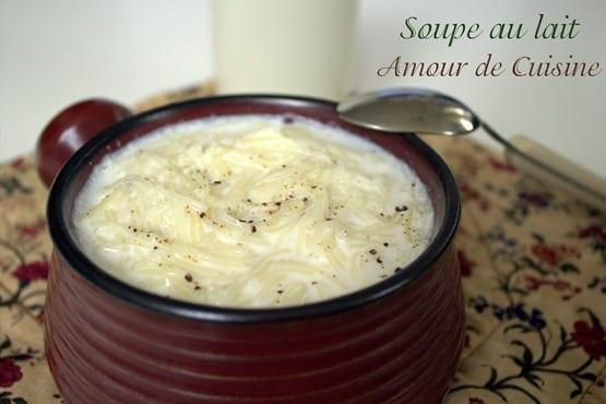 soupe au lait- vermicelles au lait 1
