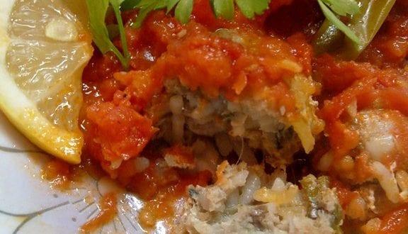 gratin de boulettes de sardines en sauce tomate, de houriya el matbakh