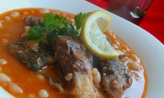 hergma ou ker3ine (pieds de veau) aux pois chiche et riz  par Darna