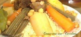 couscous aux cardons, couscous bel khorchefs