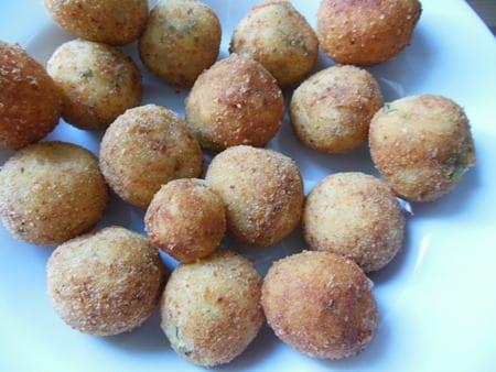 croquette de pommes de terre farcis au fromage