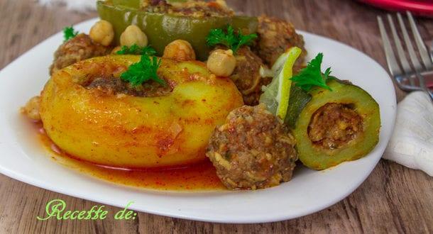 Dolma legumes farcis a la viande hachee au four