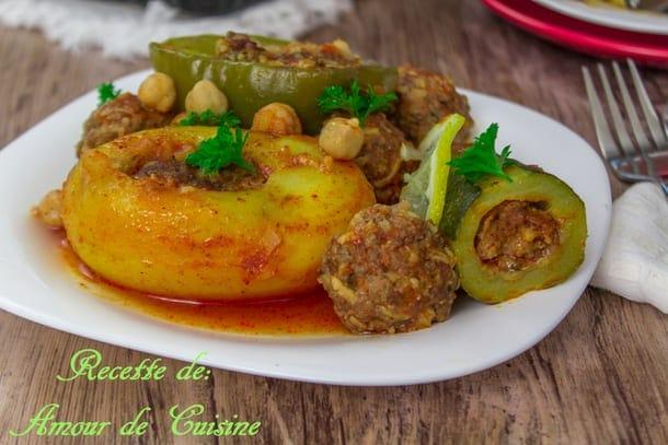 Dolma legumes farcis a la viande hachee au four amour de for 1 amour de cuisine