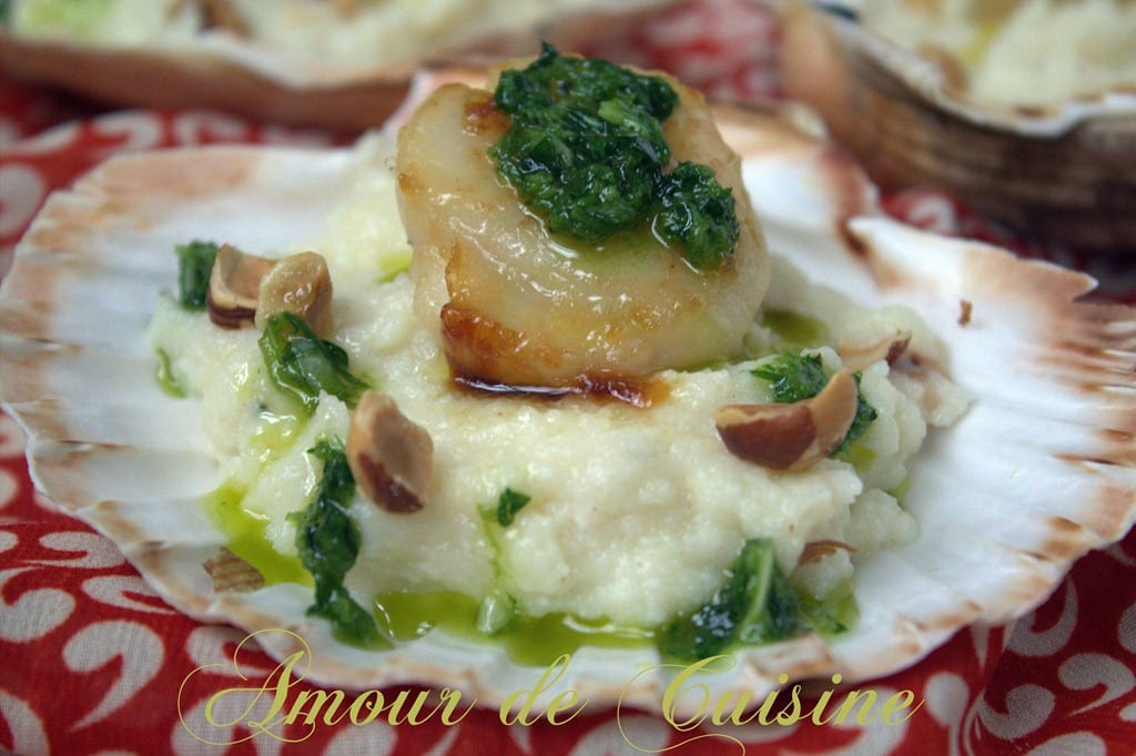 Recette de noix de saint jacques a la pur e de c leri rave - Cuisine noix de saint jacques ...