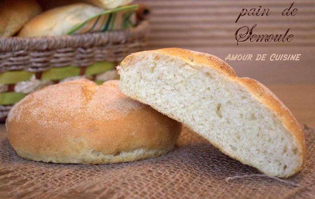 recette pain de semoule