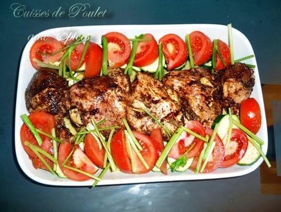 Cuisses de poulet aux epices