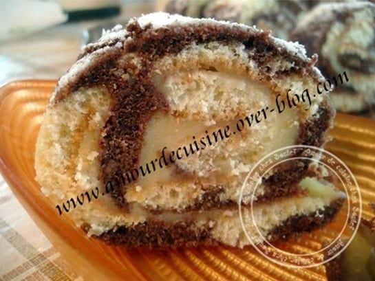roulé marbré a la crème au citron 3