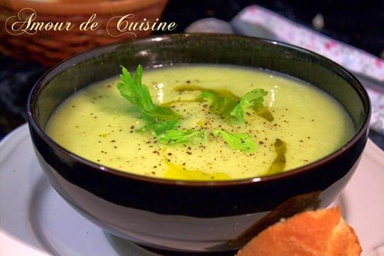 soupe au poireaux celeri