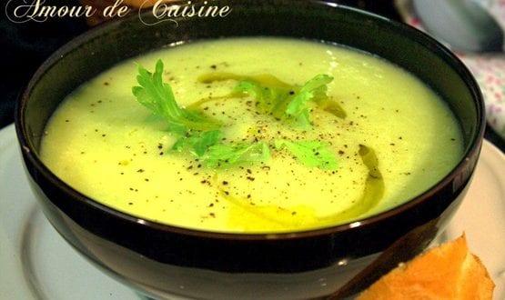 soupe aux poireaux et cèleri / facile et rapide
