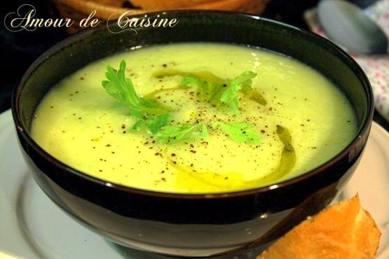 soupe de celeri et poireaux