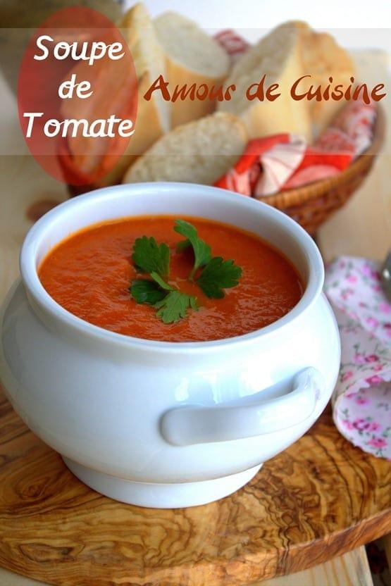soupe de tomate parfaite et velout e amour de cuisine. Black Bedroom Furniture Sets. Home Design Ideas