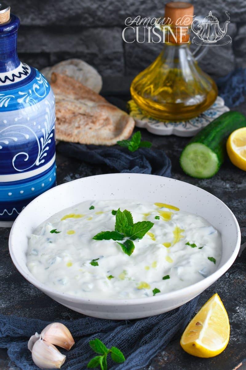 recette tzatziki sauce au concombre et yaourt