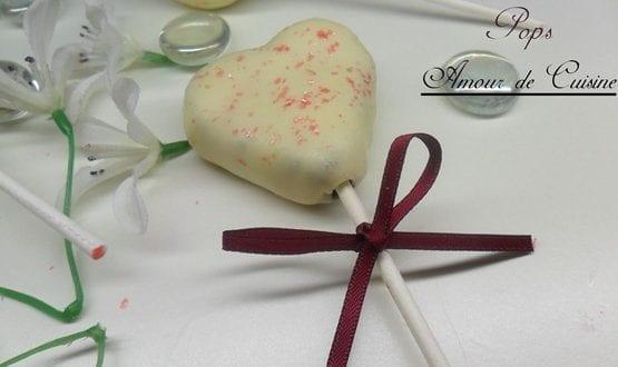 cake pops, sucettes Saint valentin